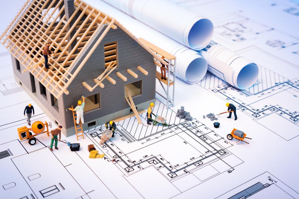 projekt domu wraz z modelem surowego stanu domu
